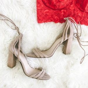 Raye Suede Strappy Block Heel